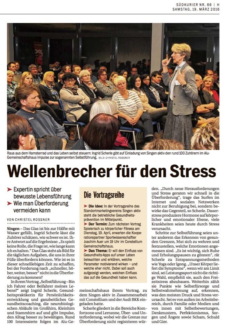 Ingrid Scherle - Wellenbrecher für den Stress